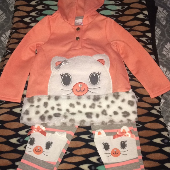 NEW Nannette 3-Pc Set Daddy/'s Girl Flower Tee Coral Jacket Pants Little Girls 3T